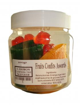 FRUITS CONFITS ASSORTIS ENTIER 250g Marliagues