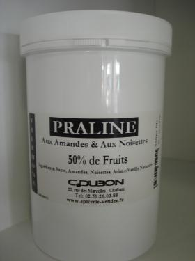 PRALINE 50% FRUITS AMANDE & NOISETTE 500g